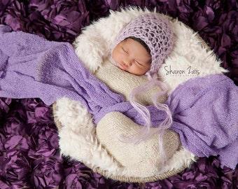 Mohair Hat, Baby Bonnet, Lavender Hat, Newborn Photography, Photo Prop, Baby Hat, Newborn Hat, Photography Prop