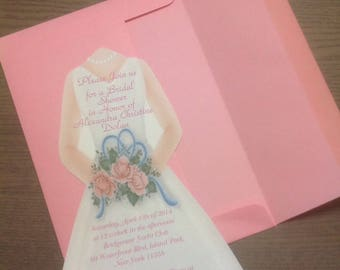 Bridal Shower Invitation -You Design - your choice of colors