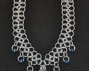 medieval necklace - chainmail - viking