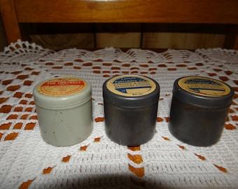 3 Vintage Film Tins with Film Strips