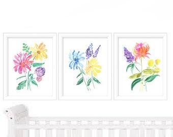 Floral Painting Watercolor Print - Watercolor Print - Watercolor Flowers - Watercolor Wall Art - Watercolor Painting Floral - Watercolor Art