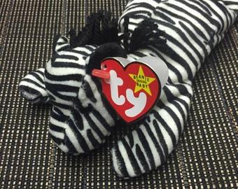 Ziggy the Zebra! TY Beanie Baby Plush toy