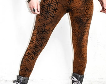 Flower of life UNWOVEN leggings