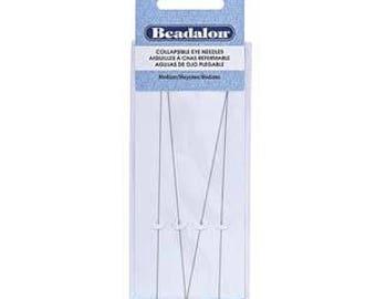 Beadalon Collapsible Eye Needles 5.0-Inch Medium 4 Pack 700M-150