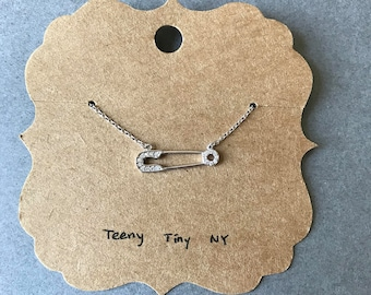 Tiny Mini Pin Silver Necklace - Sterling Silver [SN1022]