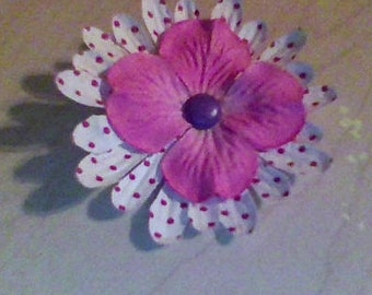 white pink and purple small bow