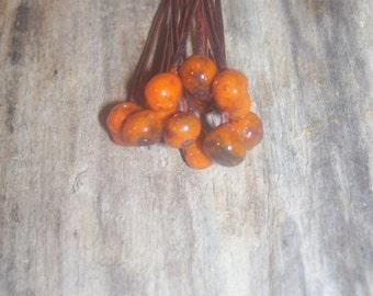 Enameled Copper Headpins Orange