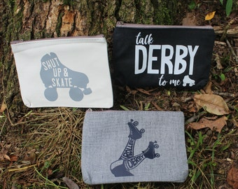 Roller Derby Pouch with Zipper