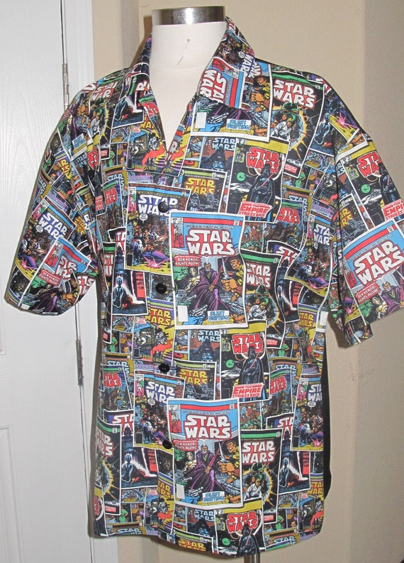 SW Comic Book Print Men's shirt in 10 sizes