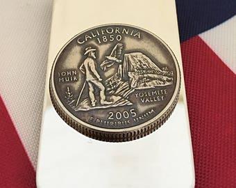 California State Quarter Money Clip