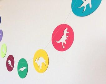 Dinosaur Garland - T-rex, triceratops, stegosaurus, & more!