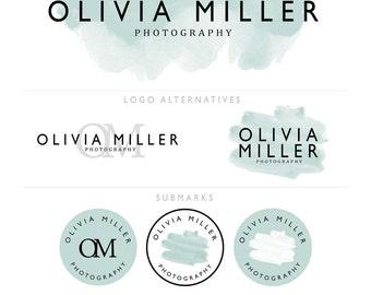 Premade Branding Package / Logo Design / Blog Header Design - Watercolour