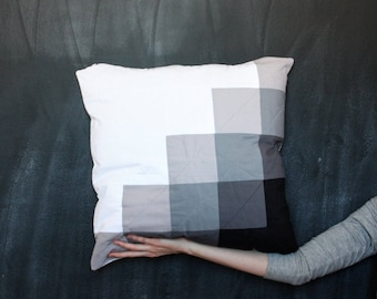 The Gray Lovers Pillow Cover   One of a Kind