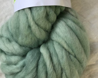 Mint Green Merino Handspun Hand dyed chunky Mini Hank 25 Metres