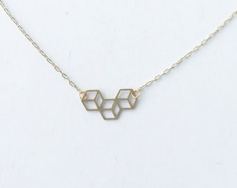 Trio Cube Necklace | ATL-N-102