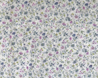 SALE - Fabric -Floral semi sheer cotton – 1 metre piece