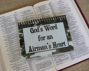 God's Word for an Airman's Heart, Spiral-Bound, Laminated Bible Verse Cards