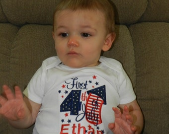First 4th of July Shirt / Personalized / Independence Day / Firecracker