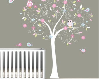 Decal Stickers Vinyl Wall Decals Nursery Tree-e17