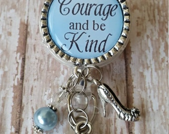 Be kind badge reel etsy have courage and be kind badge reel great gift idea or treat yourself flat solutioingenieria Gallery