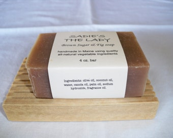 Brown sugar & fig handcrafted natural soap