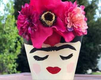 Frida Kahlo Flower Pot