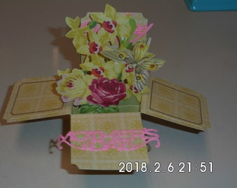 Happy Mother's Day Flower Box Card