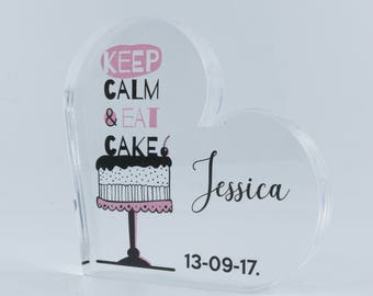 Personalized Heart, Wedding Gift for Couple,  Save the date, Personalized Wedding Gift, Custom Heart, cake, cookies, bake, Ceep calm
