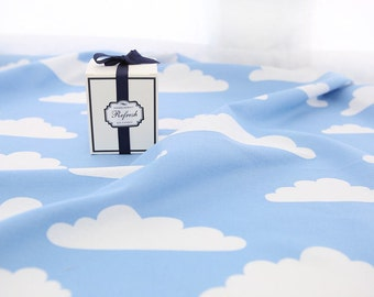 Cloud Cotton Rayon Fabric - Sky Blue - By the Yard