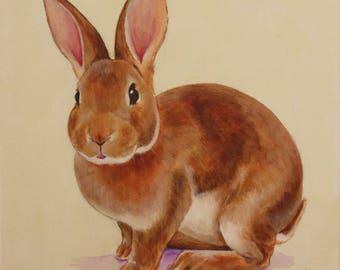 Young rabbit - Original painting