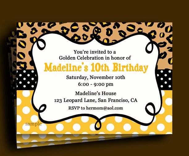 Golden birthday invitation printable or printed with free zoom filmwisefo Images