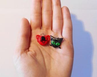 Tikki and Plagg / Ladybug and Chat Noir - Miraculous Ladybug - jewel / accessories / pendants / charms