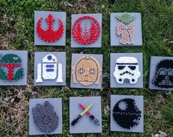Star Wars Mini String Art, 1 Star Wars Mini, Star Wars lover, Star Wars wall decor