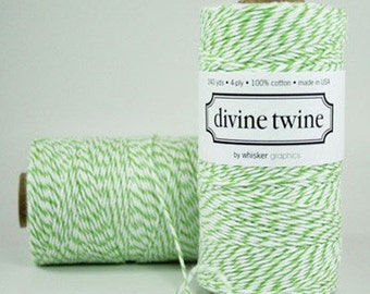 Green Bakers Twine Green Twine 240 Yards Divine Twine Green Wedding Decorations