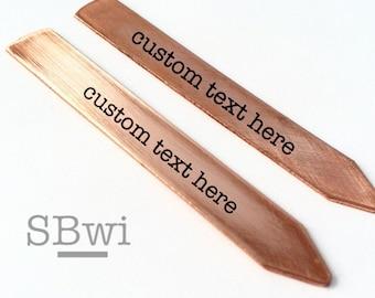 Custom copper collar stays