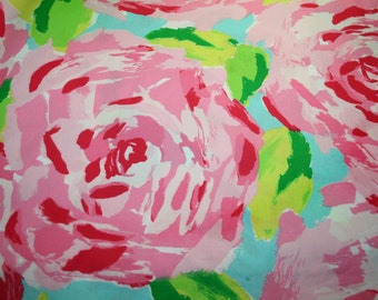 Lilly Pulitzer fabric ~ Hotty Pink First Impression~ 100% cotton~ Retired and HTF