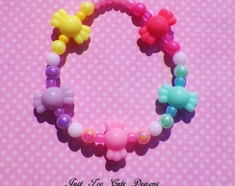 Fairy Kei Candy Bracelet for Toddlers, Girls, Young Ladies