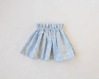 Skirt 6-9 months, elastic waist, Rifle Paper Co.'s Les Fleurs Queen Anne