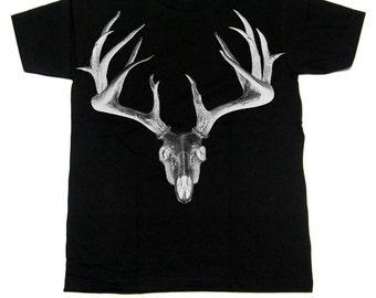 Antlers T shirt Skull Stag Deer Death Metal
