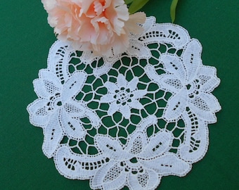 White Lace Doily or Antimacassar