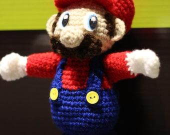 Amigurumi doll Mario Geek crocheted