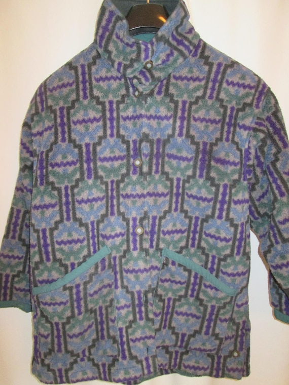 Van Heusen urban Aztec fleece quarter zip mens 2X or XXL multi colored pull over top with two front hand pockets tF5ZmEa