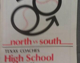 North vs South Texas Coaches High School Allstars Astrodome June 15, 1985 Souvenir Program