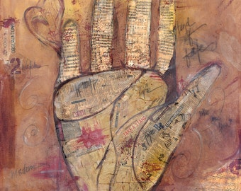Art Piece with an Urban Flair - Hand of Fate - 30x30 or 15x15 Print of Original