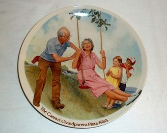Knowles Collectors' Plate by Joseph Csatari The Swinger / Grandparent Series / Limited and Numbered