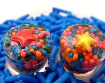 CLEARANCE Nautical Star Sprinkle Plugs - 14mm or 9.16th gauge