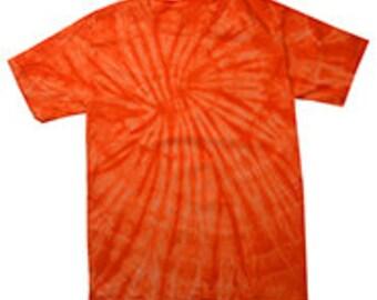 Spider Orange Tie Dye