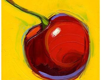Print-Red Hot Cherry-10X10-Modern Fine Art