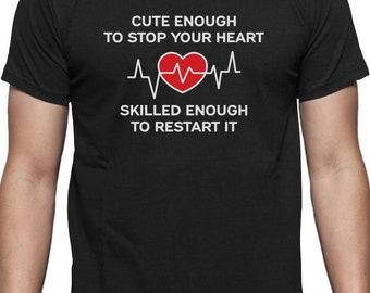 Restart Your Heart Funny Gift For Nurse T-Shirt