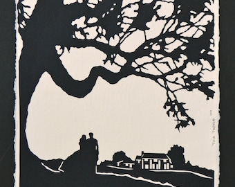 GONE WITH the WIND Papercut - Hand-Cut Silhouette